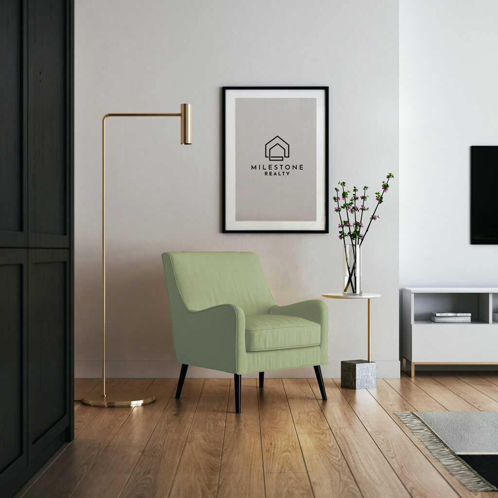 Green Chair and Logo